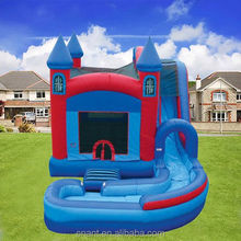 red soft play center inflatable slides