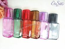 Pt053 25 ML gros couleur plat carré forme du corps verre recharge vide atomiseur de parfum vaporisateur