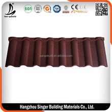 Stone Chip Coated Steel Roof Tile/ Colour Stone-coated Metal Roofing Tile Sheet