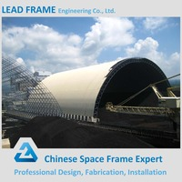 Saving cost space frame coal storage for power plant