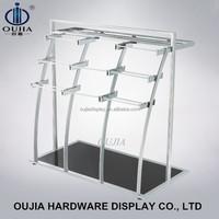 garment shop hanging pants rack/display rack metal to display