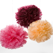 8 inch 20 cm paper folding flowers for wedding table decoration for sale with factory price