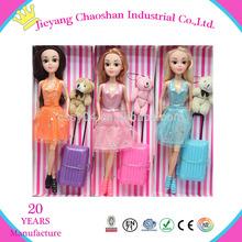 Pretty Girl muñecas viajar muñecas para los niños de la muñeca