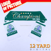 Fashion double side sublimation printed polyester fleece arabic men sports plain scarf