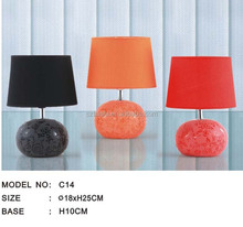 Chinese decal ceramic table lamp