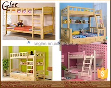2015 China Hot Sale Kids Double Deck Bed Wooden Kids Bunk Bed for School Use or for Mother and Child Use