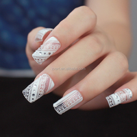 sexy finger decoration vinyl lace nail sticker printer paper
