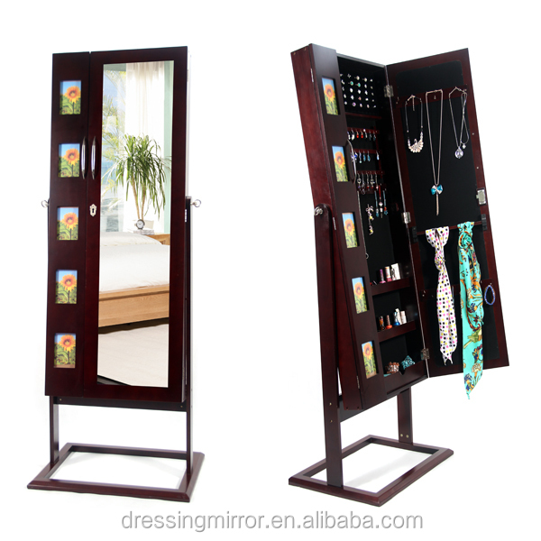 Sunnine armoire photo frames floor standing mirror jewelry for Espejo cuerpo entero vintage