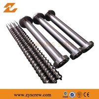 extruder screw barrel and gearbox set for plastic extrusion parts Extruder Machine recycled bimetallic screw and barrel