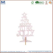 Madera plegable decorativo árbol de navidad artificial