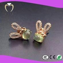 volume supply 925 silver natural Prehnite beautiful stud earring