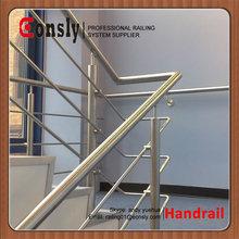 Pasamanos de aceroinoxidable para las escaleras,para el puente, de la cubierta, porche y pasamanos de la escalera