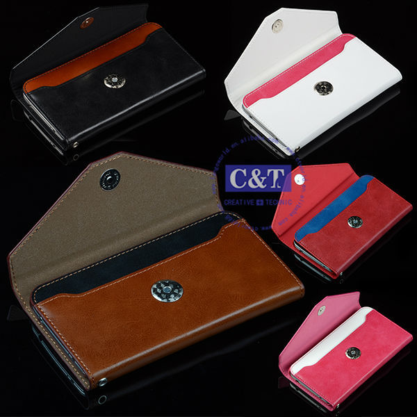 C&T 2014 Luxury Leather flip case for samsung galaxy s5