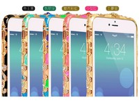 Cloisonne Ethnic Ceramics retro metal frame phone shell protective sleeve case for iphone 6