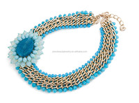 Import jewelry from China cheap statement necklace jewelry fashion handmade turquoise necklace for women