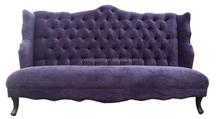 Wholesale Italian Royal Design Wing Back Upholstered Sofa