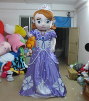 Newest adult sofia the first mascot costume for sale
