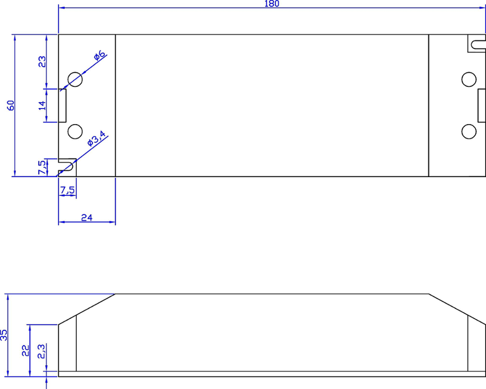 110v 220v 12v 0 10v Dimming Constant Voltage Led Driver Power Dimmable Circuit 24v 45w Ip67