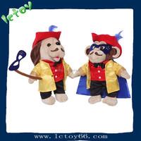 fashion animal gift mantle dog and monkey OEM plush toy