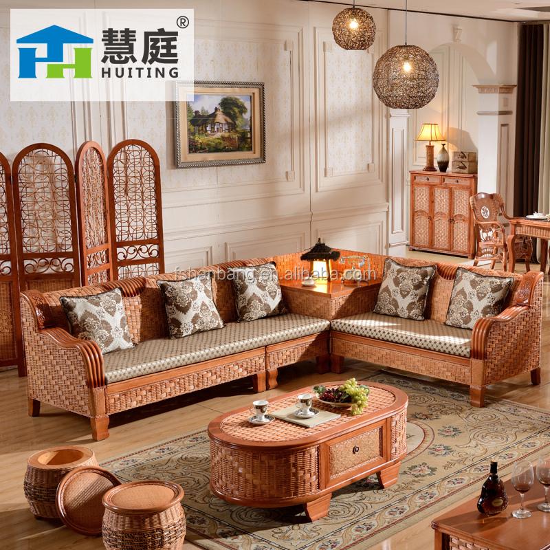 2015 alta calidad interior l estilo sof de mimbre muebles for Muebles estilo l