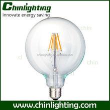 led filament bulbs g95 g125 8w e27 8w e27 g125 b22 led bayonet light bulb 220v g125 milky glass cover led filament bulb