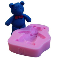 Bear forms for soap making , siliconn bear form fondant mold for concrete