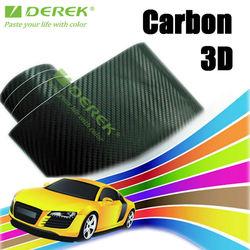 Textured 3d carbon fiber black color changing vinyl 1.52x30m custom car colors