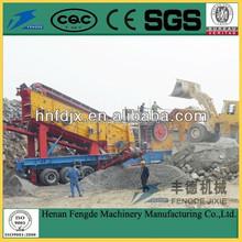 Stone crushing mobile crushing plant