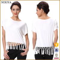 New simple style women tassel fringe casual blouse