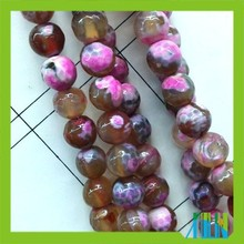 Loose strand faceted grey and pink surface gemstone semi precious beads