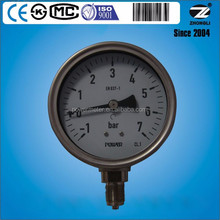 7bar stainless steel vacuum wika dry lpg gas meters for pipe hydraulic pressure test equipment