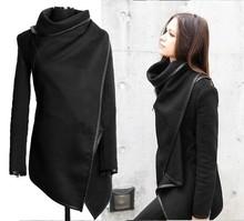 Korean waterproof long ladies leather trench coat SV010285