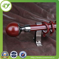 2015 Simple Style Green Wooden Curtain Rods,Big market product