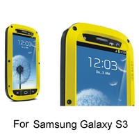 Free Shipping Latest shiny colors aluminum mobile phone case with handle for s3 iii i9300