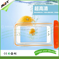 Wholesale super clear light waterproof phone protector case for iphone 6 with rope