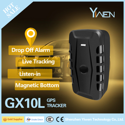 Yiwen Install-free Magnetic Manual Fireproof Vehicle GPS Car Tracker GX10L With 10000MAh Battery