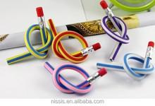 new promotion soft pvc pencil promotion gift for kids promotion flexible pvc pencil