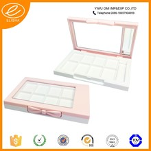 White makeup eyeshadow case magnetic/ small plastic clear containers with lids