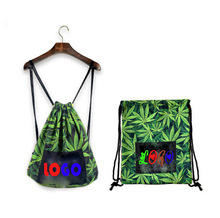 Wholesale New Design 210D Polyster Bamboo Drawstring Bag For People