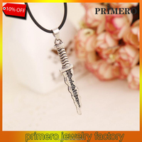 PRIMERO Snow White necklace vintage Once Upon A Time Dwarf Rumpelstiltskin Dagger pendant jewelry for men and women wholesale