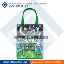Rungo Hallween personalized tote bags for kids, Non woven no gusset bag