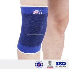 blue Elastic breathable knitting Running basketball fabric knee brace cute osteoarthritis orthopedic knee pad basketball