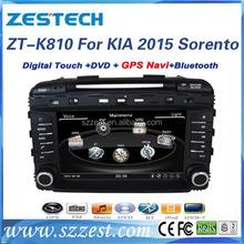 Zestech High Performance double din car stereo for kia sorento 2015 with SD card mp3 bluetooth 3G