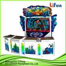 2014 Hot video fish hunter games fishing shooting game machine with bill acceptor