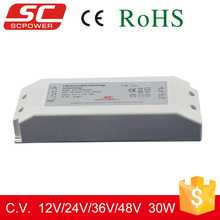 High quality DALI dimmable 36v 30w constant voltage dimmable led driver for led strip lights