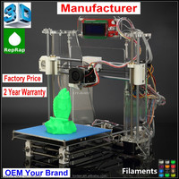 3D Metal Printer Machine Kit Chian Factory High Quality Reprap Prusa I3 DIY KIT LCD Screen optional Z605 3D Printer
