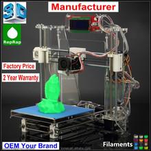 metallo stampante 3d kit macchina chian fabbrica di alta qualità reprap prusa i3 kit fai da te schermo lcd opzionale z605 stampante 3d