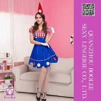 2015 Wholesale low price popular style New Blue Women Halloween Maid Costume