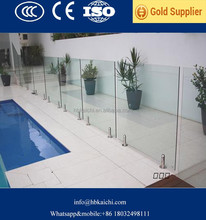hotsell competitive price 10mm 12mm tempered swimming pool glass fence from china factory with CE CCC ISO