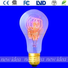 china manufacturer antique edison bulbs, clear glass light bulbs A21 25W/40W/60W wholesale